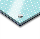 Light Blue Heart Shape Pattern Acrylic print