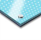 Sky Blue Heart Shape Pattern Acrylic print