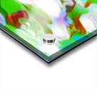 Green Glass Window - multicolor green abstract swirl wall art Acrylic print