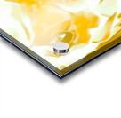 Abundant Aura - white gold swirls abstract wall art Acrylic print