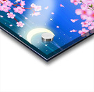sakura cherry blossom night moon Acrylic print
