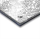 Wandering Abstract Line Art 13: Black & White Acrylic print