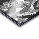 Wandering Abstract Line Art 13: Grayscale Acrylic print