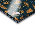 dark seamless pattern symbols landmarks signs egypt Acrylic print