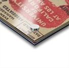 1937 USC Trojans vs. UCLA Bruins College Football Ticket Stub Art Admit One Row One Brand Acrylic print
