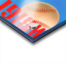Row One Brand Sports Art Remixes_Public Domain Sports Art Remix_Chicago Cubs Wrigley Poster Acrylic print