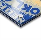 oklahoma football metal sign sooners ticket stub collection row 1 row one vintage sports art brand Acrylic print