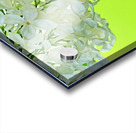 Cool White Lilac On Lemon Lime Acrylic print