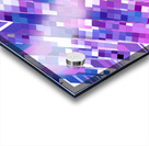 geometric square pixel pattern abstract background in purple pink Acrylic print