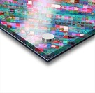 geometric square pixel pattern abstract background in blue pink Acrylic print