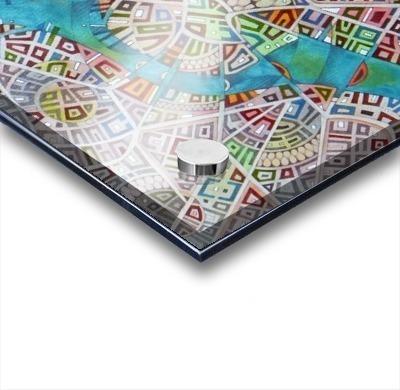 imaginary map of Boston Acrylic print