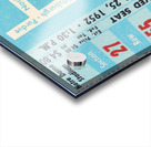 1952 north carolina tar heels notre dame irish college football sports ticket art south bend indiana Acrylic print