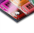 Multicoloured telephone boxes Acrylic print
