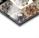 Collage of Dahlias flowers Acrylic print