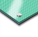 Aquamarine Checkers Pattern Acrylic print