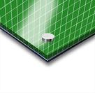 Green Checkers Pattern Acrylic print