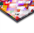 colorful geometric square pixel pattern abstract art in orange red purple Acrylic print