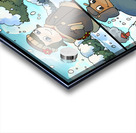 Winter Wonderland Fun   Playing in the Snow   4 panel Favorites for Kids Room and Nursery   Bugville Critters Acrylic print