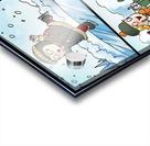 Winter Wonderland Fun   Ice Skating  Sledding and Tobogganing   4 panel Favorites for Kids Room and Nursery   Bugville Critters Acrylic print