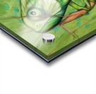 green chameleon Acrylic print