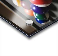 Pool Balls On A Billiard Table With The Eight Ball Facing Upwards Acrylic print