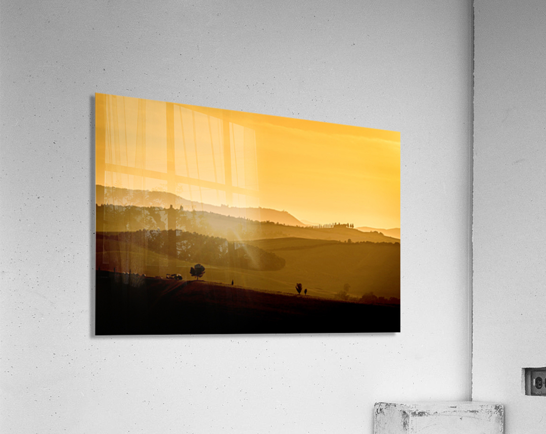 Tuscany Pienza Dawn  Acrylic Print