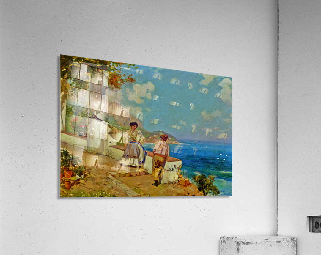 Courting couple in Naples  Acrylic Print