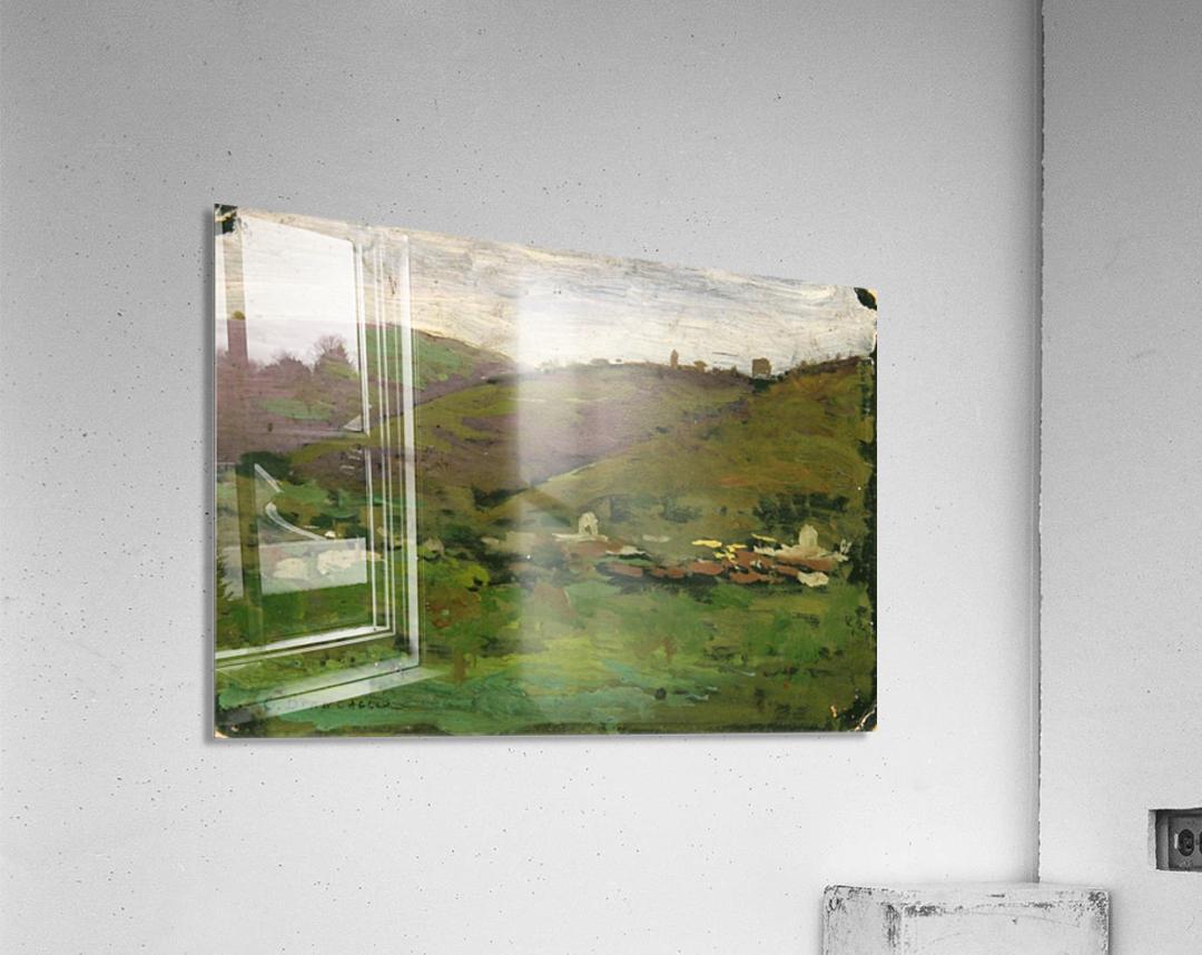 Landscape with houses on an Italian hill  Acrylic Print