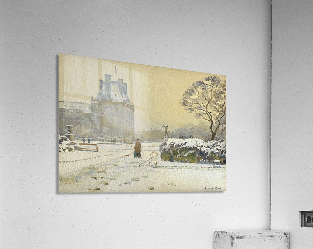 Le pavillon de flore sous la neige, Paris  Acrylic Print
