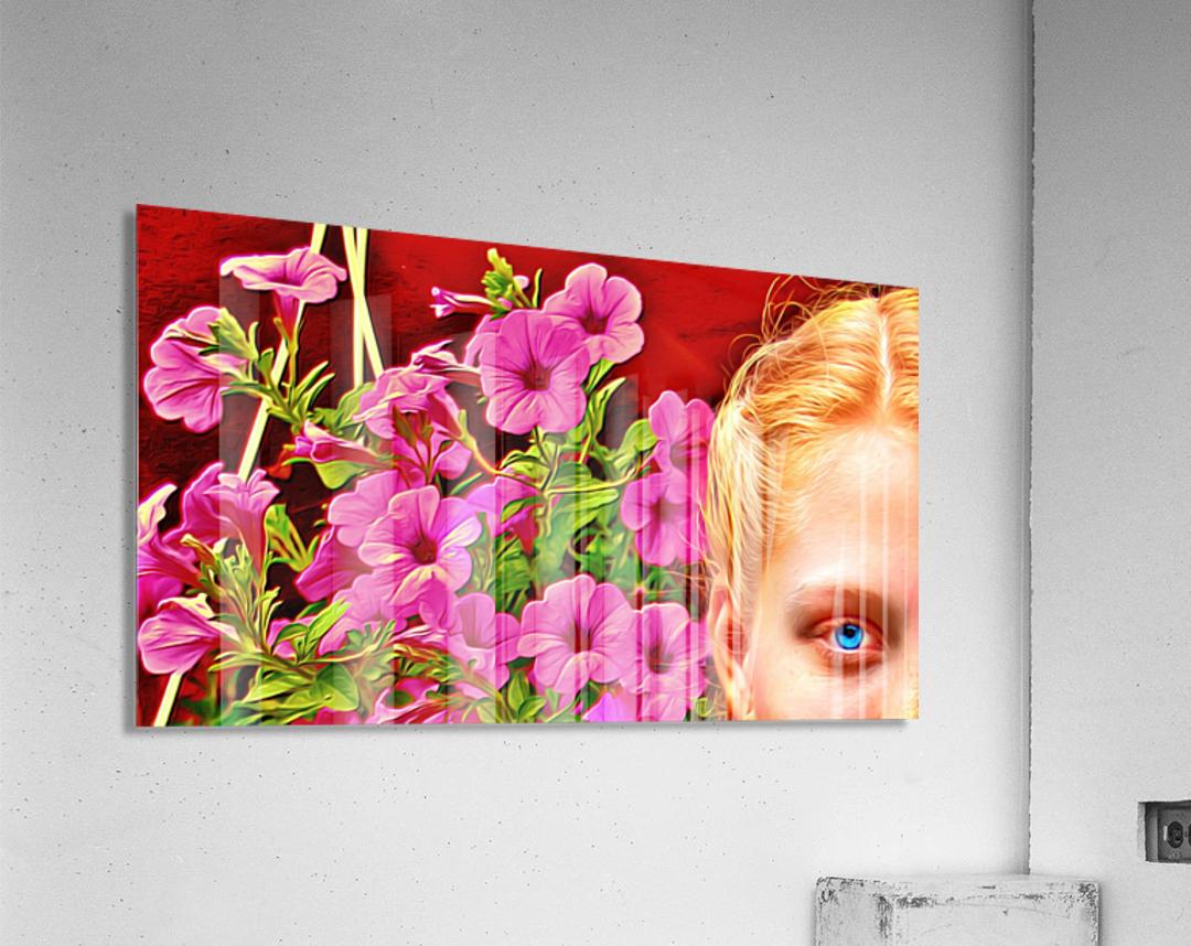 womanflowersEYE  Acrylic Print