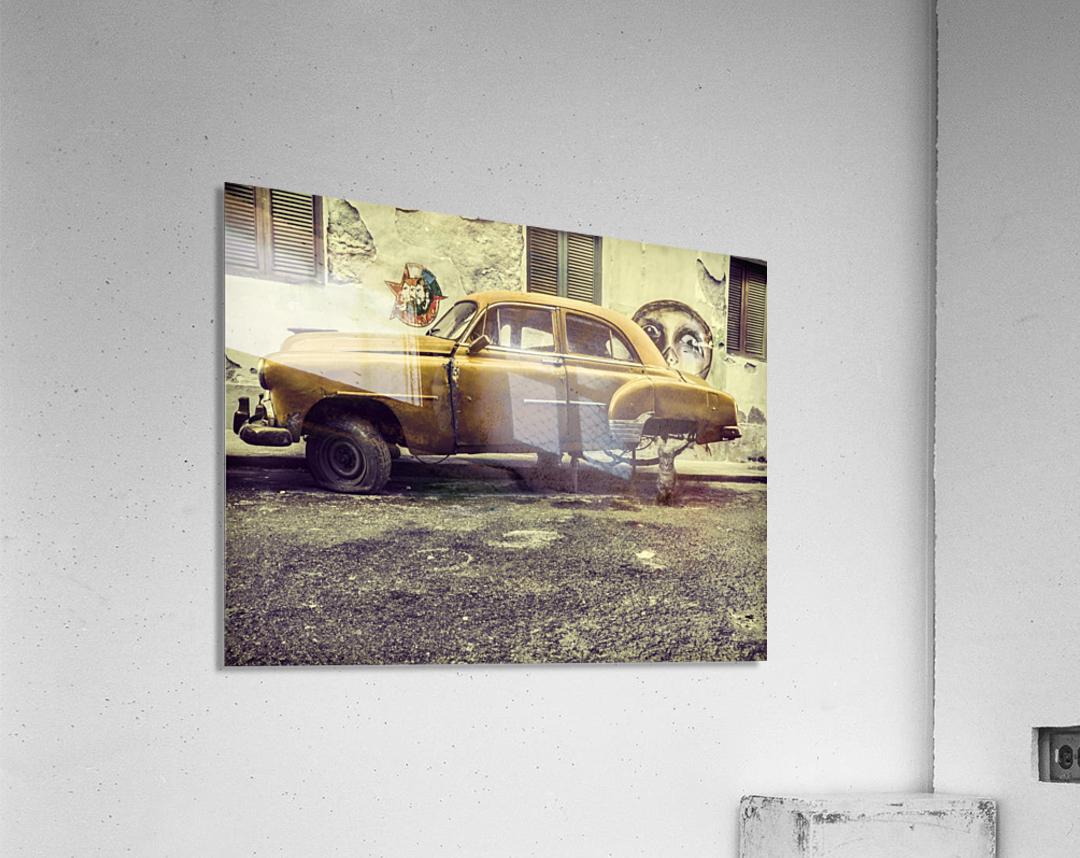 Old car cat  Acrylic Print