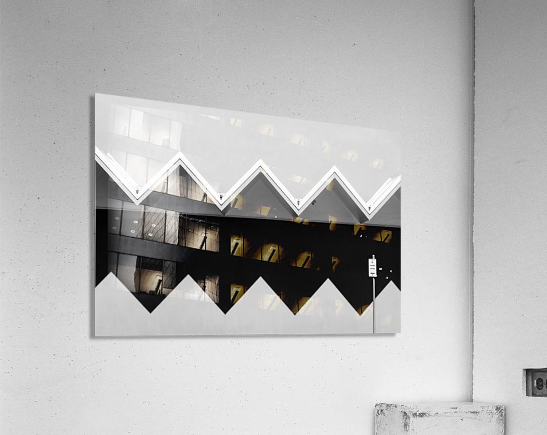 Zig Zag Shadow  Acrylic Print