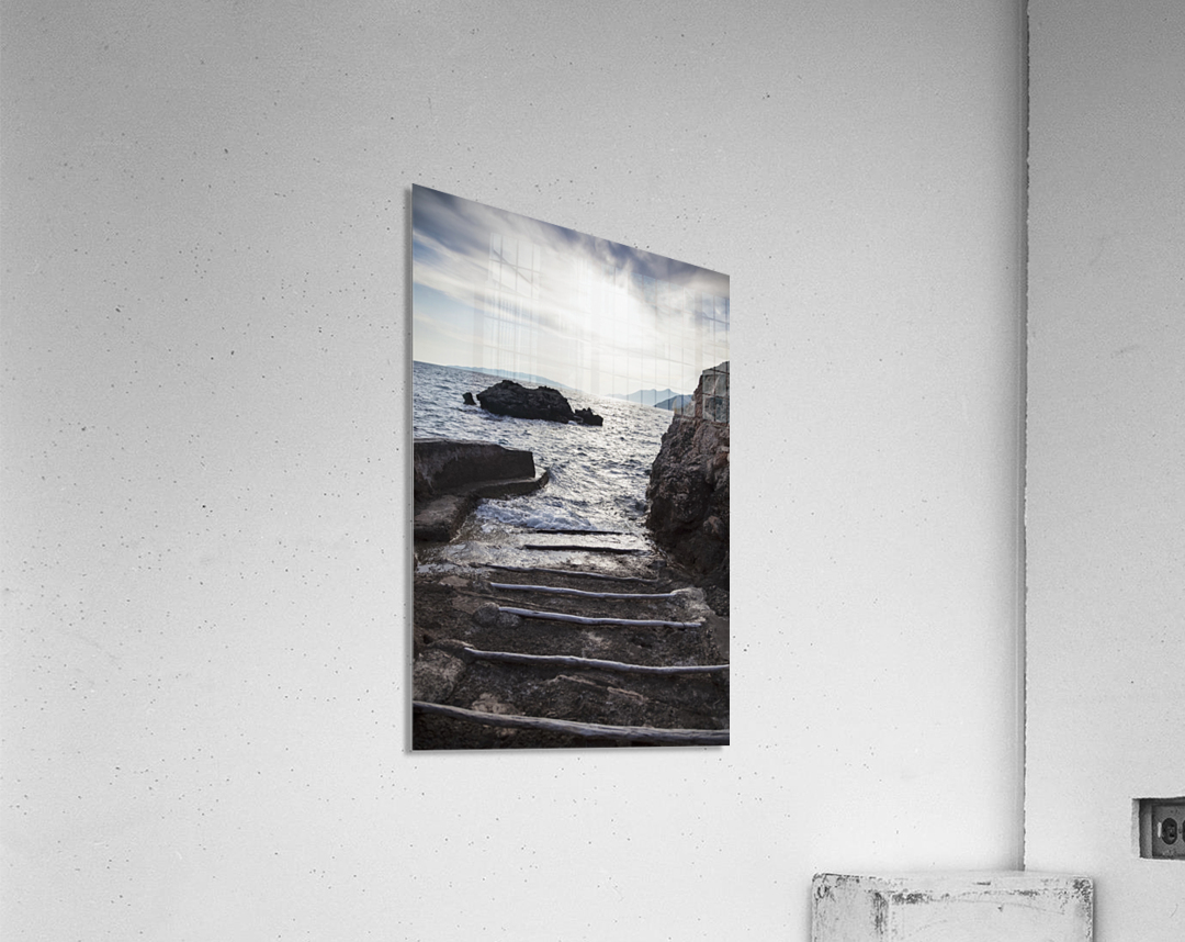 A small boat ramp along the Borak coast, near Trpanj; Borak, Croatia  Acrylic Print