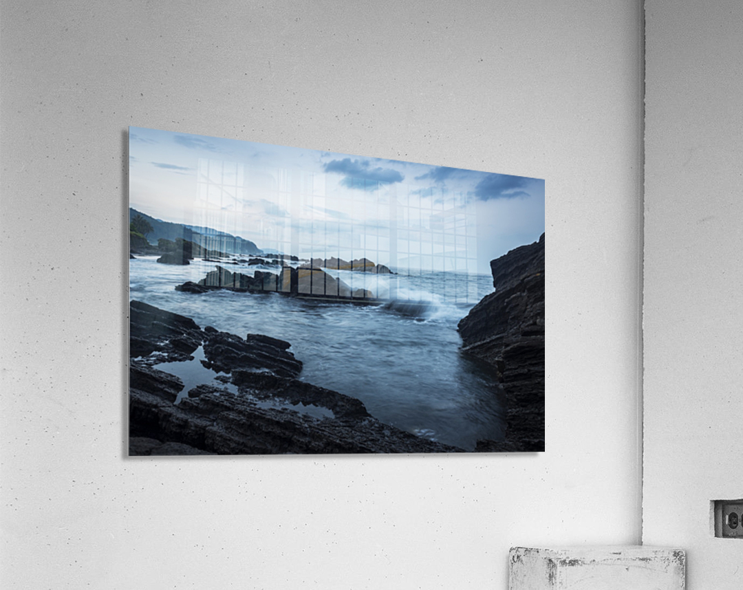 Waiao beach in Yilan County, beautiful volcanic landscape; Taiwan, China  Acrylic Print