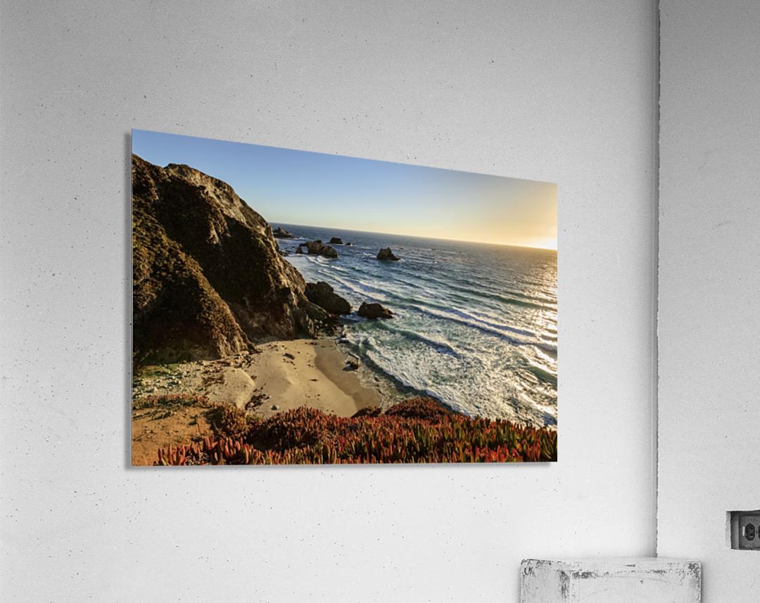 Cliffs along Big Sur coastline near Rocky Creek Bridge on Highway One; California, United States of America  Acrylic Print