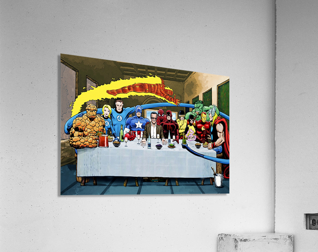 Marvel Superheroes: Stan Lee's Super Supper with Avengers, Fantastic Four, X-Men, Spider-Man & More  Acrylic Print