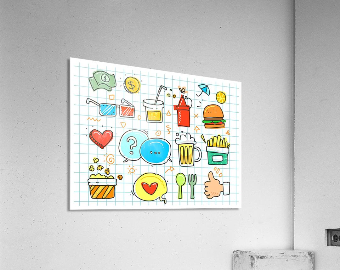 colorful doodle  Acrylic Print