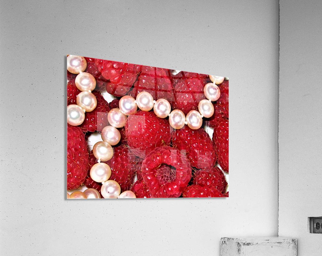 Raspberry pearls  Acrylic Print
