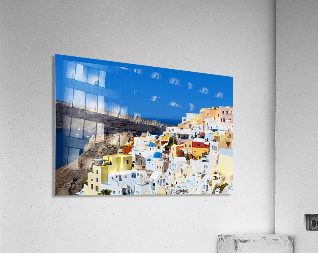 Santorini Landscape - Greece  Acrylic Print