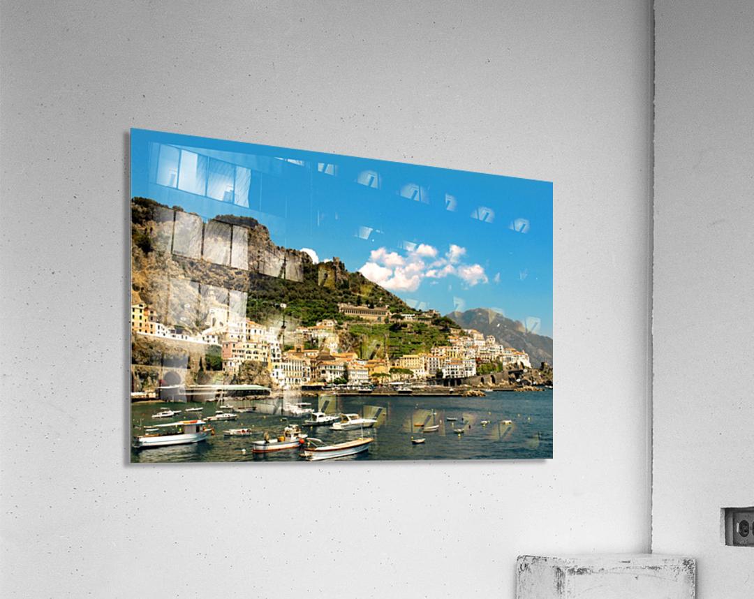 Amalfi Town - Panoramic View - Italy  Acrylic Print