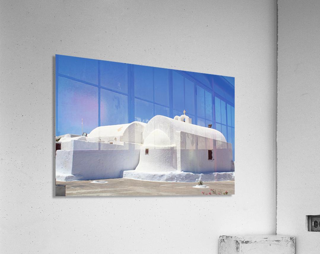 White Church -Santorini Island -  Greece  Acrylic Print