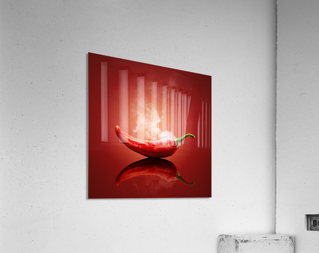 Chili red steaming hot  Acrylic Print