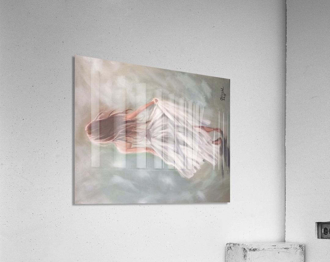 A strong girl   Acrylic Print