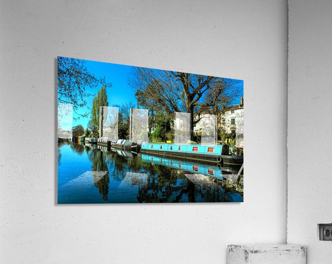River and Boats - London   Acrylic Print
