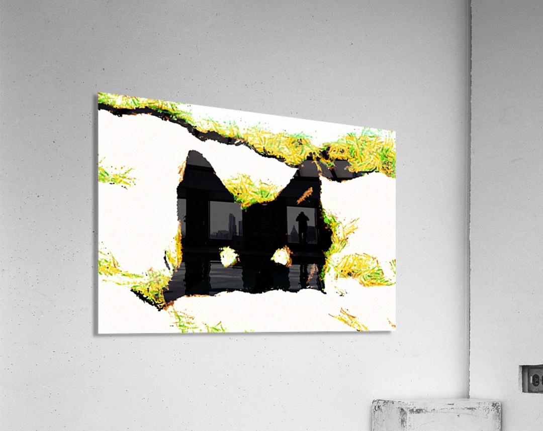 Kitten in snow  Acrylic Print