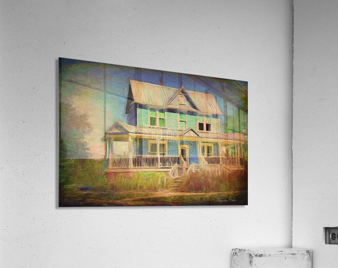 Valentine House Oil  Acrylic Print