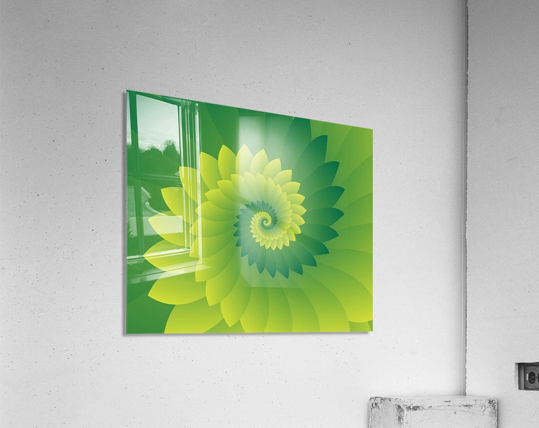 Shiny Greeny Art  Acrylic Print