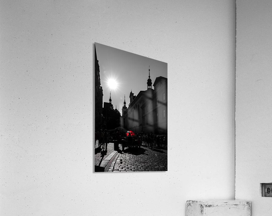 Le parapluie rouge  Acrylic Print