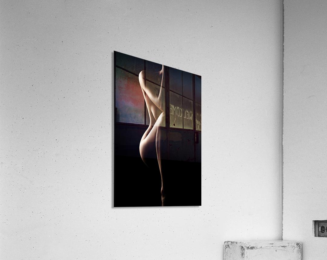 Silhouette of nude woman  Acrylic Print