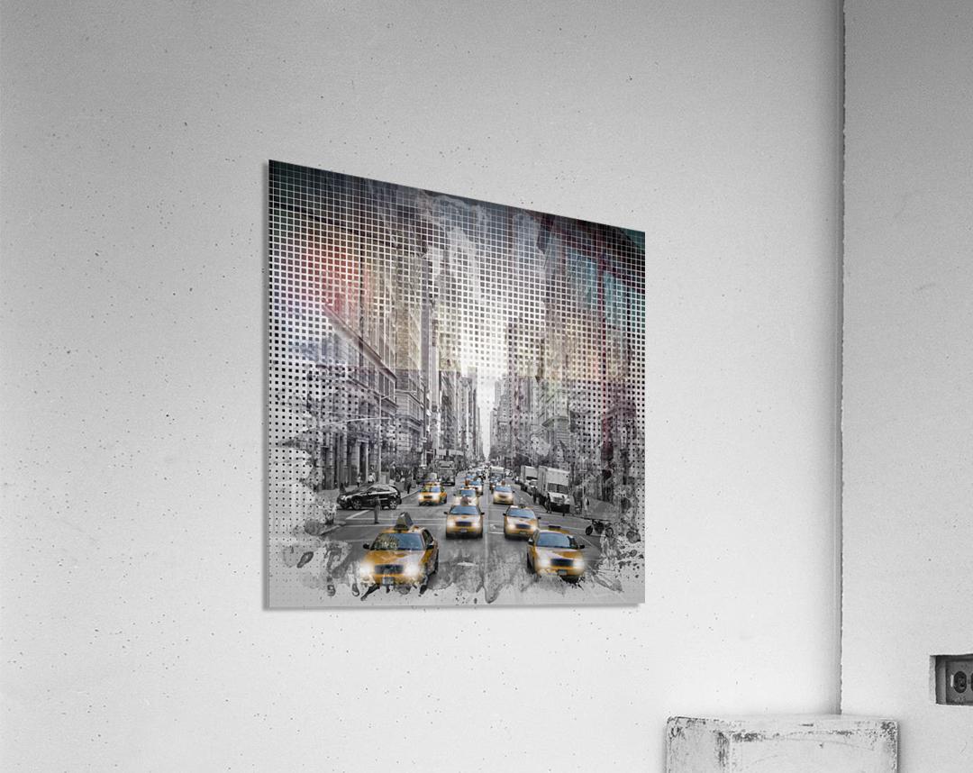 Graphic Art NEW YORK CITY 5th Avenue Traffic  Acrylic Print
